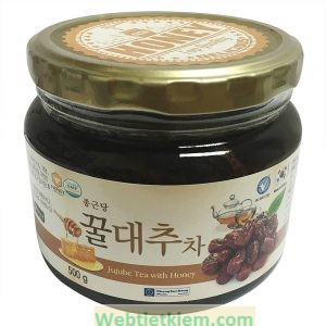 Mật Ong Táo Tàu Ginseng House - Jujube Tea With Honey Hộp 500g