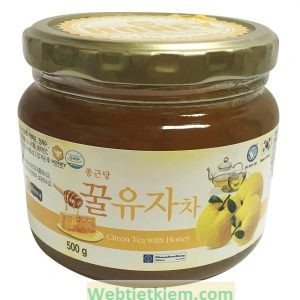 Mật Ong Chanh Ginseng House - Citron Tea With Honey Hộp 500g
